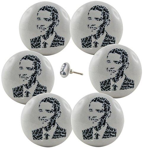 6-x-obama-le-president-etats-unis-meubles-bouton-meubles-bouton-de-placard-poignee-ceramique-vintage