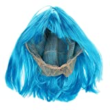 Imported New Fashion Short Punk Bob Full Wig Costume Cosplay Party Bright Blue