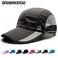 GADIEMENSS Quick Drying Breathable Running Outdoor Hat Cap Only 2 Ounces 10 Colors (Dim Gray)