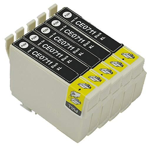 Teng® Tintenpatronen, Schwarz, für Epson SX110 SX400 SX600FW SX205 SX410 S21, Office BX300F BX610FW B40W, DX4400 DX8400 DX7450 DX5000 - Yield-cyan-tinte