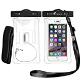 Waterproof Phone Case, Vansky Floatable Waterproof Phone Case Dry Bag with Armband and Audio Jack for iPhone 8, 8p, 7, 7Plus, 6, 6s plus, Andriod; Mobile Phone Case Waterproof Bag, TPU Construction and IPX8 Certified to 100 Feet