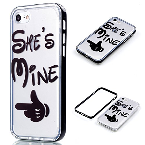 Apple iPhone 8 4.7 Hülle, Voguecase Schutzhülle / Case / Cover / Hülle / 2 in 1 TPU Gel Skin (lächelndes Gesicht 02) + Gratis Universal Eingabestift Mine 01