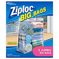 Storage Supplies: XX-Large Ziploc Big Bags Case Pack 8