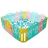Niños Grandes Jugar Pen Indoor Outdoor Home Área De Actividad Versátil De 16 Paneles Multi Color...