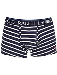 Ralph Lauren Boxer Court Rayé Bleu Marine Blanc Homme