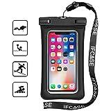 Pochette Étanche Téléphone, TUPSKY IP68 Universel Airbag Flottant TPU Téléphone Sachet sec pour iPhone Xs Max/XR, iPhone X/6/7/8 Plus, Samsung Galaxy S8+/S9+, Note 9/8, Pixel 3/2 XL (1 Pack, Noir)