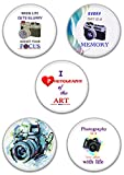 Snapgalaxy Photographer Round Button Badge Pack Of 5