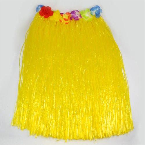 Imagen de smallwise trading hawaiian grass skirt flor hula lei guirnalda disfraz 5pcs set amarillo  alternativa