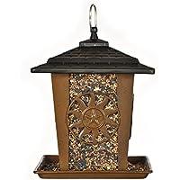 Opus [Perky-Pet] Mangeoire à oiseaux Sun & Star - Lanterne en métal décoration à suspendre ou à monter sur perchoir - Capacité max. 1,6 kg de graines #370