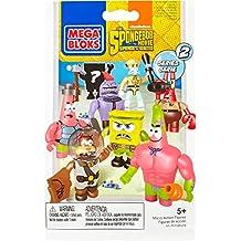 Mega Blocks - 325005 - 94600 Bob Esponja Micro Acción Serie Figuras 1, 1 unidad, modelos surtidos
