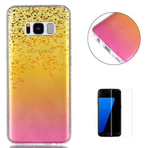 samsung-galaxy-s8-plus-custodia-in-siliconecon-gratuito-proteggi-schermo-kasehom-colore-gradiente-or