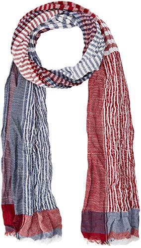 camel active Herren 407170 Schal, Rot (Red/Blue Striped 39), One Size (Herstellergröße: OS)