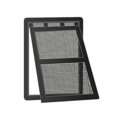 wip Katzentür Katzenklappe für Insektenschutztüren 20x25cm schwarz