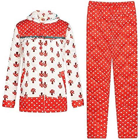 GJX Tute di servizio pigiama inverno donne lungo con maniche