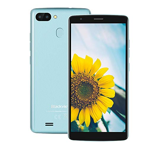 "Blackview A20 Pro【2GB/16GB】4G Smartphone ohne Vertrag, 5.5\"" 720*1440 IPS, Android 8.1, MTK6739 1.3GHz Quad-Core, 8.0MP+0.3MP Dual Back-Kamera, 3000mAh, Fingerabdruckerkennung, GPS WIFI Dual SIM (Blau)"