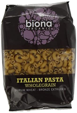Biona Organic Wholewheat Macaroni 500 g (Pack of 12)