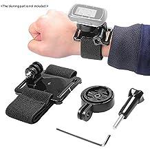 Andoer® Banda Cinturón Brazalete Correa de Mano Muñeca con Adaptador Holder para Garmin GPS Edge Cycle 25 200 500 510 520 800 810 1000 Accesorios para GoPro