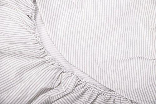 Vizaro - BEZUG für Wickeltischauflage des Babys/verstellbar 50x70 cm - 100% REINE BAUMWOLE - Hergestellt in der EU ohne schädlichen substanzen - SICHERES PRODUKT Graue Linien