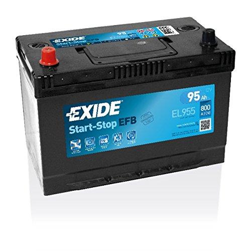 Exide–Batteria auto start-stop EFB–Speciale Auto–Batteria 12V–95Ah–Basso Tasso di auto-décharge–Esperienza di equipementier originale–Costruttore 2anni di garanzia