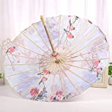 GONGFF Parapluie en Bambou Artisanal décoratif Classique de Papier de pétrole pour...