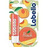 Labello Lippen-Pflegestift mit Pfirisch Aroma, Peach Shine Limited Edition, 4er Pack (4 x 5 g)