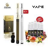 Cigma Vape Dual Slim - Weltweit kleinste Nachfüllbare wiederaufladbare e-Zigarette - Starter-Set für
