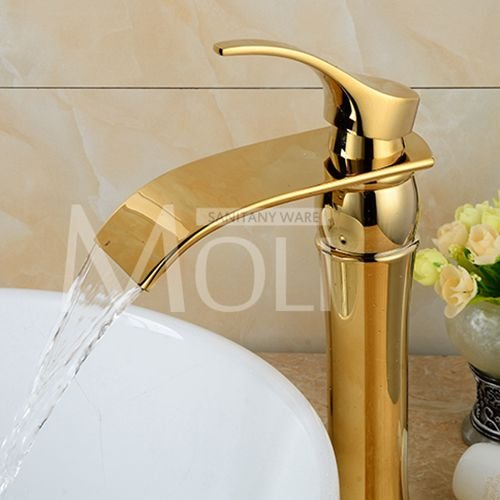 tougmoo Luxus Gold Armaturen Single Griff Waschbecken ...