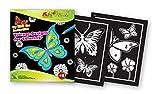 QuackDuck Malbuch Fly with the Butterflies - Vitrage designs for Coloring - Fliegende Schmetterlinge - Malen auf Transparentpapier Fenster-Design - Malblock für Kinder ab 5 Jahre - mit buntem Sammelumschlag zum Einstecken
