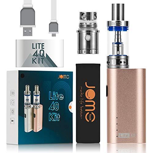 JOMO TECH E Zigarette Starterset Lite 40W Vaporizer Verdampfer E Damper Elektrische Zigarette Gold