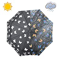 iMucci Sun&Rain Travel Umbrella Water Discoloration Umbrella UV Protection Umbrellas Oversized Sun Protection Folding Umbrella 56x96cm