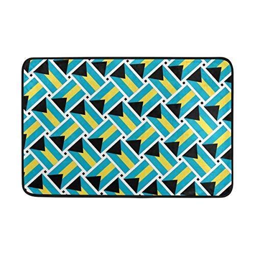 dingjiakemao The Bahamas Flag WeaveNon Slip Doormat Entrance Mat Floor Mat Rug Indoor Outdoor Front Door Bathroom Mats 23.6 x 15.7 inches(40x60cm) Bahama Slip