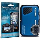 """ONX3 Crystal Clear Premium LCD Screen Protectors Packs With Polishing Cloth & Application Card For 3.0"""" Screen Size Canon Powershot D30 Digital Camera Pack Of 6 By SmartGlaze"""