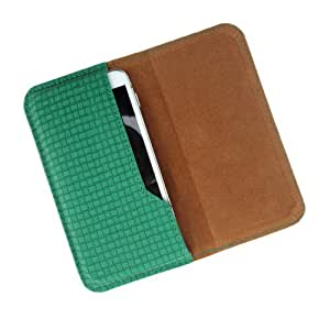 i-KitPit : PU Leather Flip Pouch Case Cover For Lava Iris 350M (GREEN)