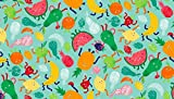 Makower Fat Quarter Fruity Friends Fruit Baumwolle Quilten