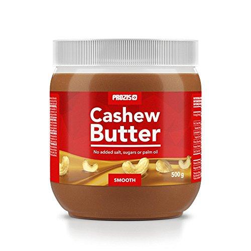 Prozis Cashew Butter 500g - Texture Crémeuse et Délicieuse - Source de Protéine Naturelle - Adapté aux régimes Vegan, Kosher et Halal - Sans Lactose, Sel, Sucre ni Huile de Palme