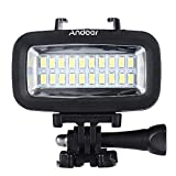 Andoer Ad alta Potenza 700LM Video Diving Fill-in luce LED Lampada di illuminazione Impermeabile 40M 1900mAh Built-in batteria ricaricabile con diffusore per GoPro SJCAM Xiaomi Yi cam - Andoer - amazon.it