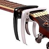 Bystep Gitarre Capo, Gitarren - Zubehör Musik Löst Capo Wichtige Kammer für Gitarre Hochwertiger Capo für die GitarreAkustik Gitarre, Chrome schnell ändern, akustische gitarren ukulele banjo mandoline bass, ultra - leicht - capo für 6 streichinstrumente