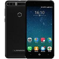 LEAGOO KIICAA POWER - 5 Zoll Android 7.0 3G Smartphone mit 4000mAh Akku, Triple Kameras (5MP + 5MP + 8MP), Quad Core 1.3GHz 2GB RAM 16GB Fingerabdruck - Schwarz