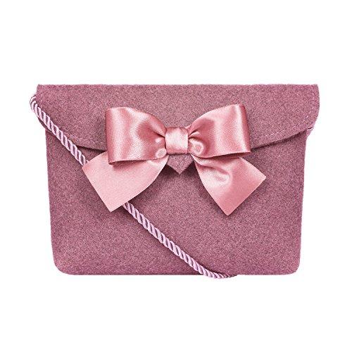 Almbock Trachten-Tasche Lilly - Trachtentasche handmade, handgemacht, aus 100% echtem Wollfilz, Tasche mit Schleife