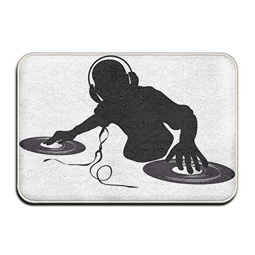 Home Door Mat DJ Spinning Discs Doormat Door Mats Entrance Rugs Anti Slip 4060 Indoor Outdoor -