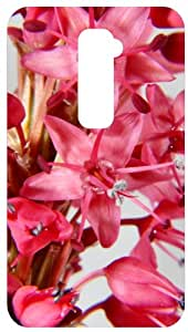 Persicaria Pink Flowers Close Up White Back Cover Case for LG Optimus G2