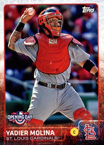 2015 Topps Opening Day Baseball Card 131 Yadier Molina St Louis Cardinals