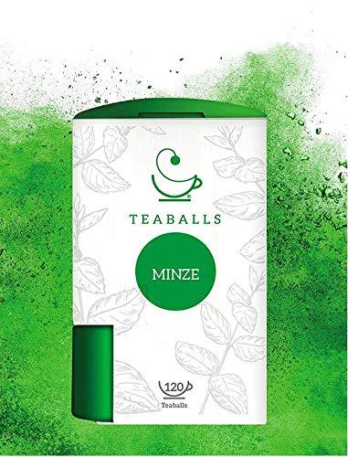 TEABALLS - Minze | 120 Teaballs | für ca. 30-50 Tassen Tee | 100% reines Pflanzenextrakt | 100% Natur