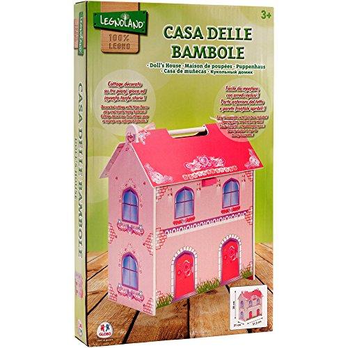 Legnoland 37442 - Casa Bambole in Legno C/7Pezzi