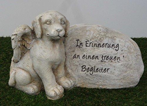 Hundegrabstein mit Spruch großer Hundegrabschmuck Hundetrauerschmuck Gedenkstein für Hund 42,5 cm breit