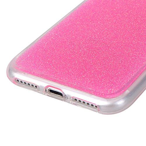 Étui iPhone 7 Silicone, Coque iPhone 8 Paillettes, Coque iPhone 7 Souple, Moon mood® Brillante Sequins Bling Houss Coque de Protection Soft Case Cover TPU Bumper Dossier Étui de Protecteur Pétiller Co 2PCS-3