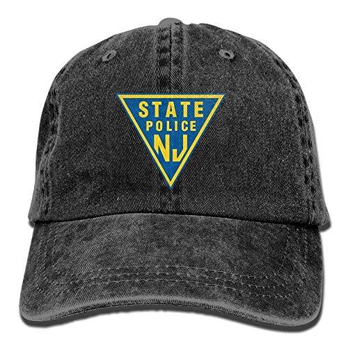 Preisvergleich Produktbild ruichangshichengjie NJ State Police Vintage Adjustable Denim Hat Trucker Cap for Adult