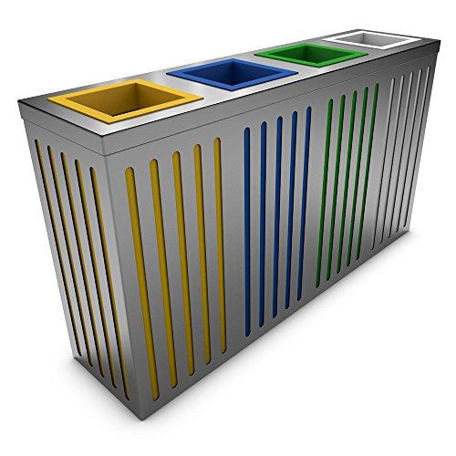 poubelledirect Pattumiera Raccolta Differenziata Design Acciaio Inox ...