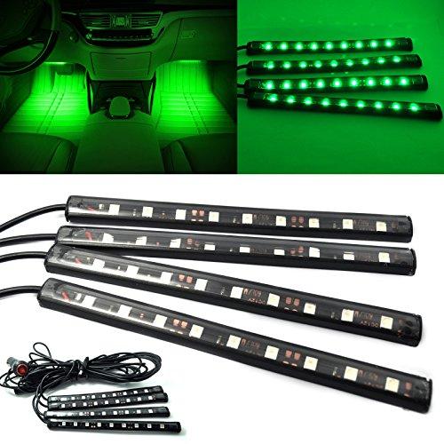 ZREAL 1set Ruban Bande Néons Lumière Ultra Vert 5050 Voiture LED Strip Intérieur Underdash Floor Kit de Lumière Atmosphérique