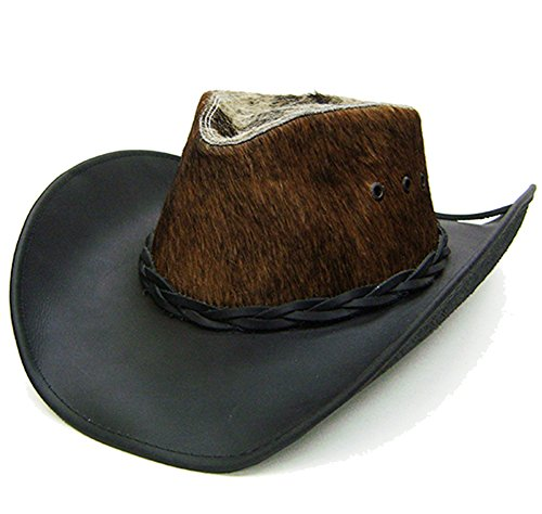 modestone-unisex-leather-sombrero-vaquero-hair-on-cowhide-crown-black